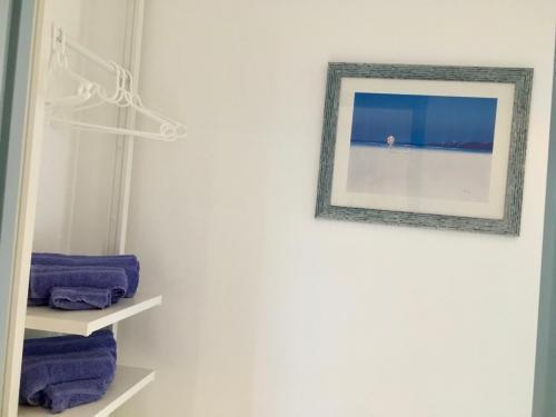 Rangement, fonctionnel, Serviettes de bain, couloir
